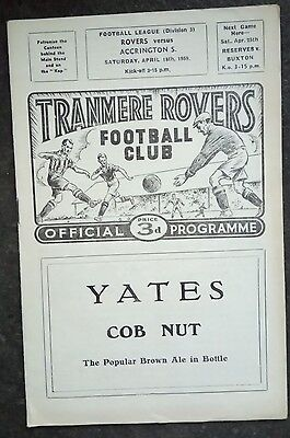 Tranmere Rovers v Accrington Stanley 1958/59
