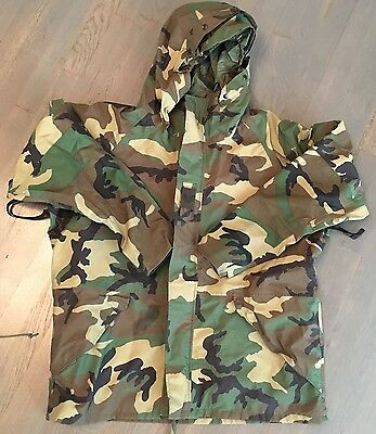 Us Army Military Ecwcs Gore Seam Cold Weather Woodland Camo Parka Large Regular
