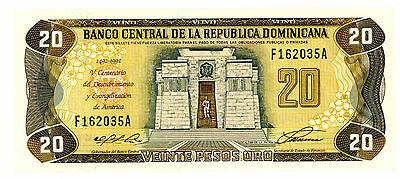 Dominican Republic… P-139 … 20 Pesos … 1992 … *UNC* ... Commemorative.