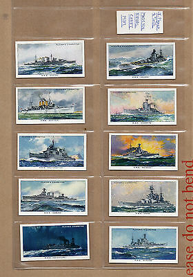 players Modern Naval craft 1939 complete set of 50 in plastic sleeves