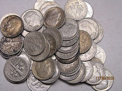 1 Roll (50) Roosevelt Dimes � Silver