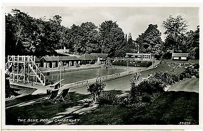 CAMBERLEY,THE BLUE POOL,SURREY- REAL PHOTO-POSTCARD,UNPOSTED.su