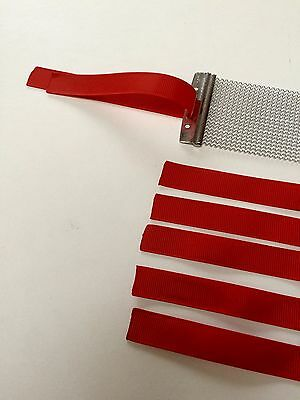 6 x Snare Wire Straps Ribbon String Cord For Snare Drum Wires, RED high quality