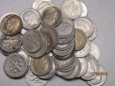 1Roll (50) Roosevelt dimes � Silver