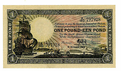 South africa … P-84f … 1 Pound … 1947 … *XF*