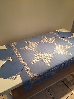 Hand Finished Vintage Table Cloth And Napkins