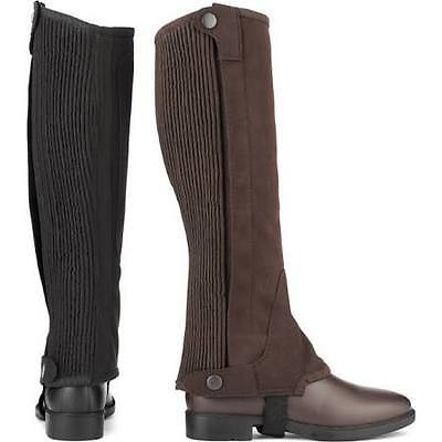 Shires Junior Suede Half Chaps - Brown - Size Small - Bnwt - Horse Riding