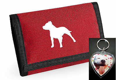 Staffy Dog Gift Pack - Staffordshire Bull Wallet/heart keyring Xmas Gift choices