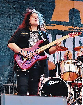 Vinnie Moore autographed 8x10 UFO Free Shipping