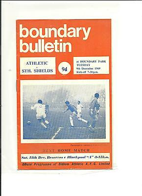 1969/70 FA Cup 2nd round  replay  Oldham v South Shields