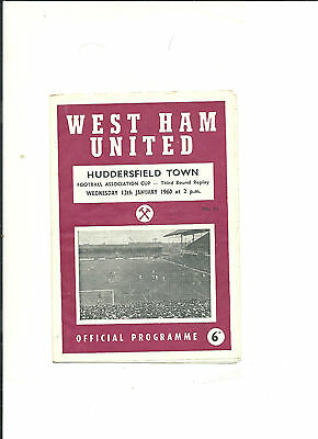 1959/60 FA Cup 3rd round replay  West Ham United v Huddersfield Town
