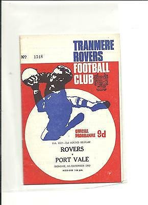 1969/70 FA Cup 2nd round  replay  Tranmere Rovers v Port Vale
