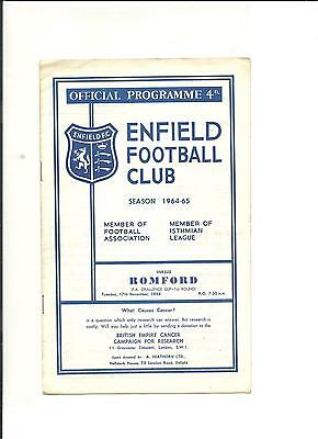 1964/65 FA Cup  1st round  replay Enfield v Romford