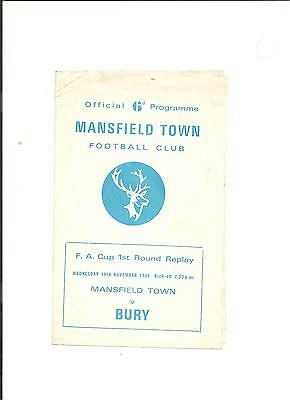 1969/70 FA Cup  1st round replay Mansfield v Bury