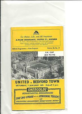 1966/67 FA Cup 2nd round Oxford United v Bedford Town