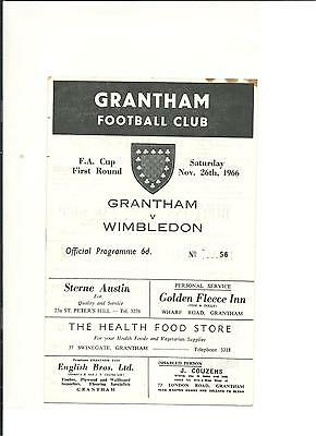 1966/67 FA Cup 1st round proper  Mansfield Town v Bangor City