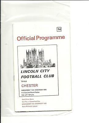 1968/69 FA Cup  2nd round replay Lincoln City v Chester