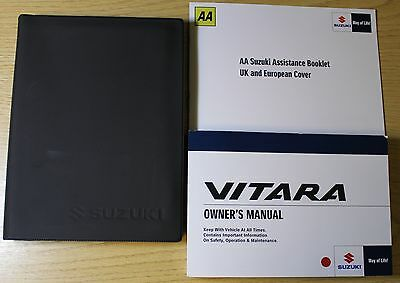 Suzuki Vitara Owners Manual Handbook Wallet 2015-2016 Pack 3847