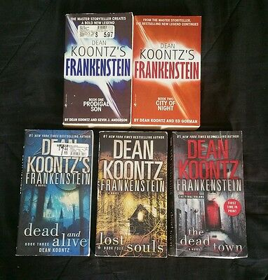 Dean Koontz- Lot of 5- Frankenstein series- heavily used condition