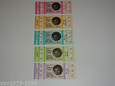 Conway Twitty, 5 Unused 1981 Concert Tickets Tompall Glaser Brothers Selland Usa