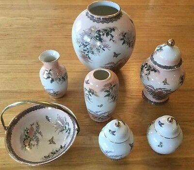 M&S Japanese Vase collection - 7 quality items of 1989 - a lovely Christmas gift