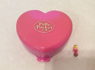Vintage 1992 Polly Pocket Light Up Compact 'Starlight Castle Playset' Pink Heart