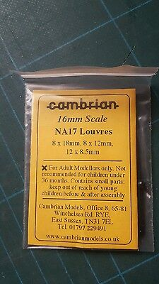 CAMBRIAN NA17 Louvres 16mm scale Black