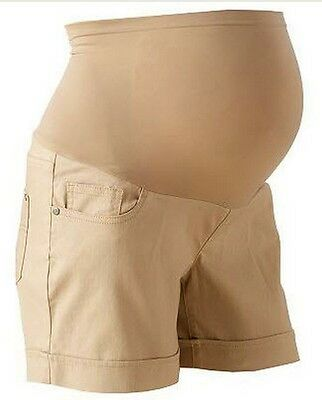 Oh Baby Maternity Secret Fit Belly Khaki Shorts L Large