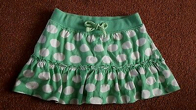 Age 5 skirt green with white spots