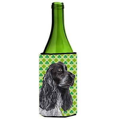 Cocker Spaniel St Patricks Irish Wine bottle sleeve Hugger 24 oz.