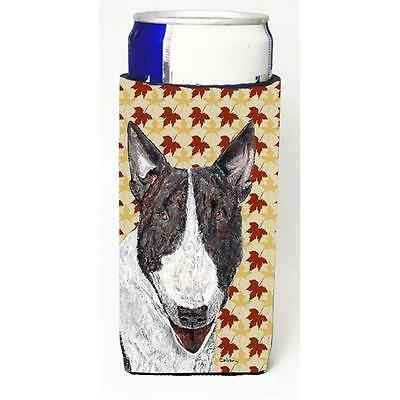 Bull Terrier Fall Leaves Michelob Ultra bottle sleeve for Slim Can