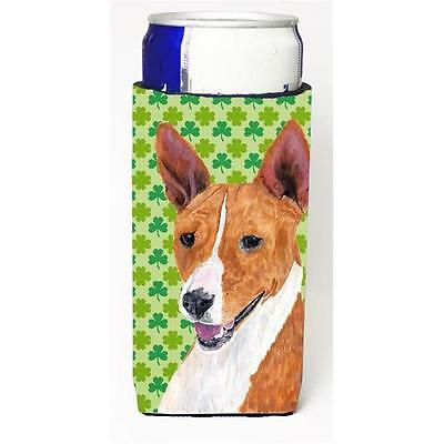 Basenji St. Patricks Day Shamrock Portrait Michelob Ultra bottle sleeves For ...
