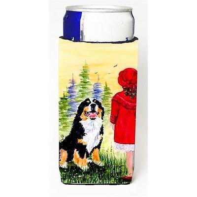 Little Girl With Her Bernese Mountain Dog Michelob Ultra bottle sleeves For S...
