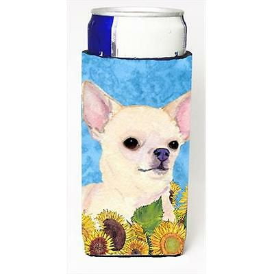 Chihuahua In Summer Flowers Michelob Ultra bottle sleeves For Slim Cans 12 Oz.