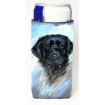 Carolines Treasures Black Labrador Michelob Ultra bottle sleeve for Slim Can