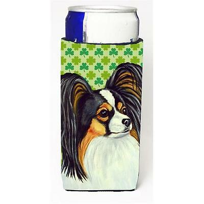 Papillon St. Patricks Day Shamrock Portrait Michelob Ultra bottle sleeves for...