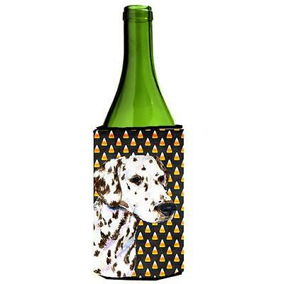Dalmatian Candy Corn Halloween Portrait Wine bottle sleeve Hugger 24 Oz.