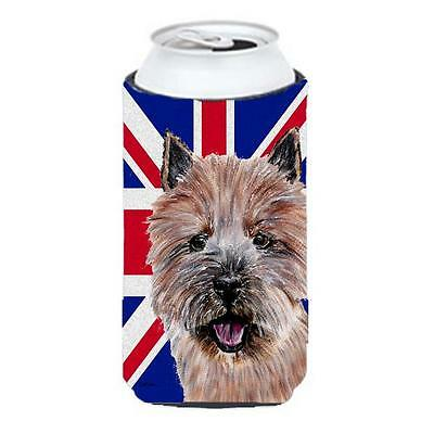 Norwich Terrier With English Union Jack British Flag Tall Boy bottle sleeve H...