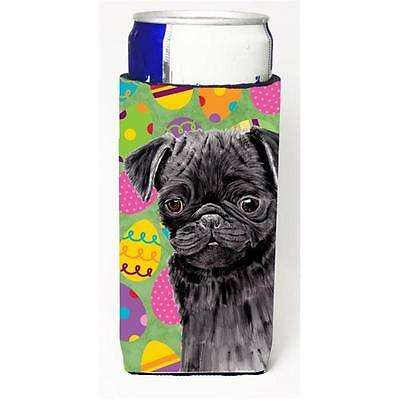 Carolines Treasures Pug Easter Eggtravaganza Michelob Ultra s for slim cans
