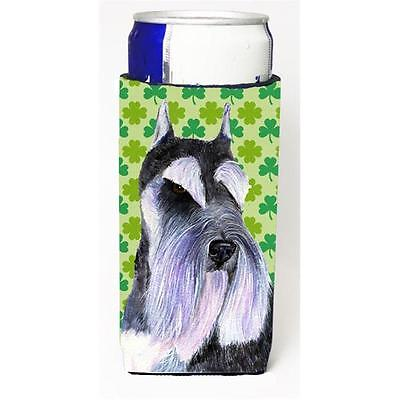 Schnauzer St. Patricks Day Shamrock Portrait Michelob Ultra bottle sleeves Fo...