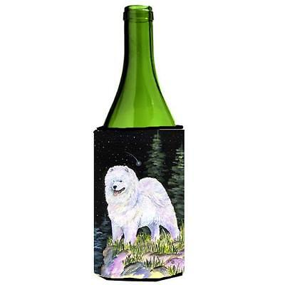 Carolines Treasures Starry Night Samoyed Wine bottle sleeve Hugger 24 oz.