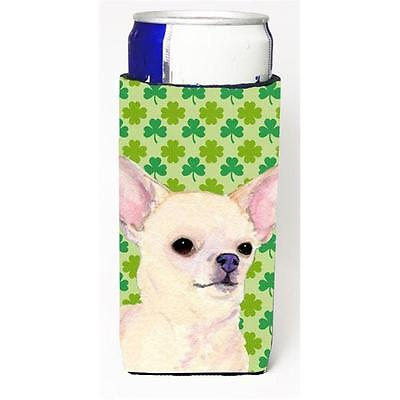 Chihuahua St. Patricks Day Shamrock Portrait Michelob Ultra bottle sleeves fo...