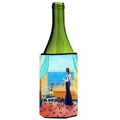 Carolines Treasures Lady With Her Pug Wine bottle sleeve Hugger 24 oz.