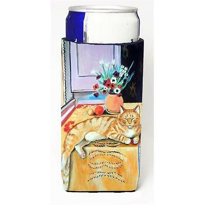 Carolines Treasures Cat Michelob Ultra bottle sleeves For Slim Cans 12 oz.
