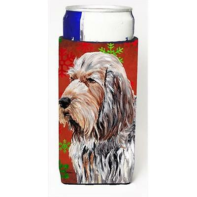Otterhound Red Snowflakes Holiday Michelob Ultra bottle sleeves Slim Cans 12 Oz.