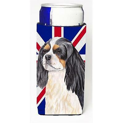 Cavalier Spaniel With English Union Jack British Flag Michelob Ultra bottle s...