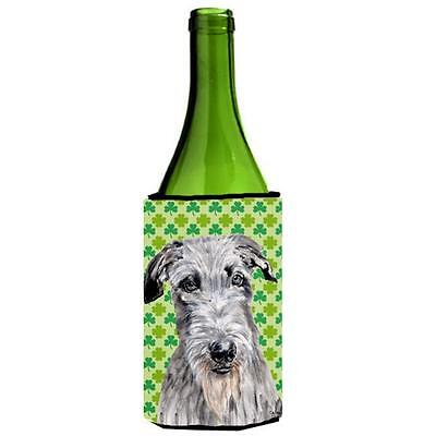 Scottish Deerhound Lucky Shamrock St. Patricks Day Wine bottle sleeve Hugger ...