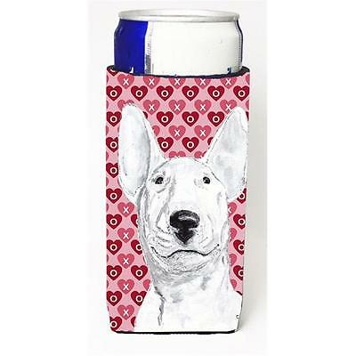 Bull Terrier Valentines Love Michelob Ultra bottle sleeves for slim cans 12 oz.