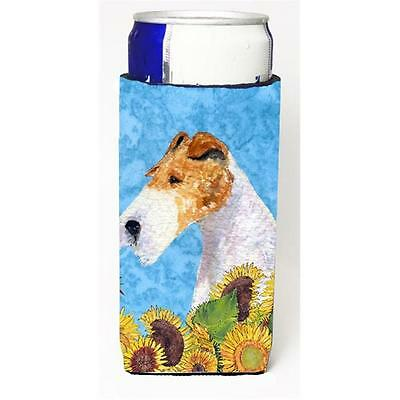 Fox Terrier In Summer Flowers Michelob Ultra bottle sleeves For Slim Cans 12 oz.