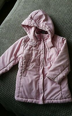 Girls pink Nike coat with hood age 5-6 years